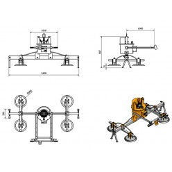 AMVL2200-4 Mechanical Vacuum Lifter