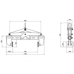 Horizontal Stone Lifting Clamp AHLC-730