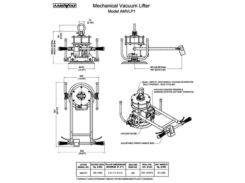 Mono Mechanical Vacuum Lifter 270