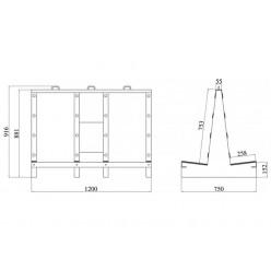 Packrack - DS750/1200