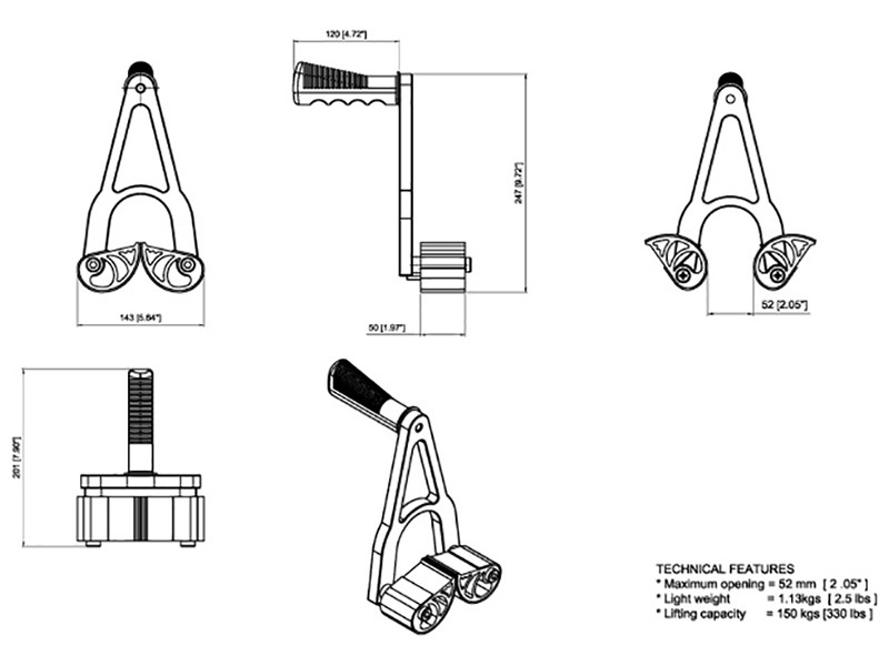 Hand Carry Clamps Stone Panel Carriers